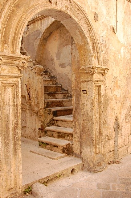 picture of interesting baroque doorway and stairs